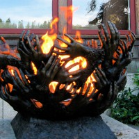 The entwined hands of a client's family are featured in this bronze casting, designed by Charles Price and Mark Larkin