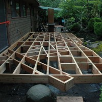 Framing for an intricate deck, Bainbridge Island