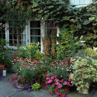 Seasonal display at the Dunn Garden residence entrance