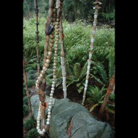 Marcia Donahue's porcelain bamboo and ceramic mala (Buddhist prayer beads)